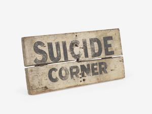 location sign, Suicide Corner