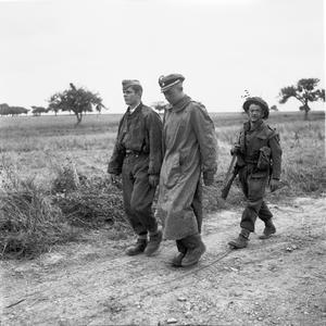 GERMAN PRISONERS OF WAR IN NORMANDY, JUNE 1944