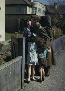 AN EIGHTH ARMY MAN ON LEAVE, WIRRAL, CHESHIRE, 14 APRIL 1944