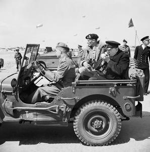 THE PRIME MINISTER'S VISIT TO NORMANDY 12 JUNE 1944