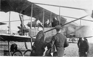 WINSTON CHURCHILL WITH THE NAVAL WING OF THE ROYAL FLYING CORPS, 1913.