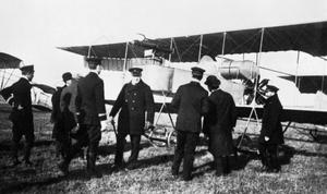 WINSTON CHURCHILL WITH NAVAL WING OF THE ROYAL FLYING CORPS, 1914.