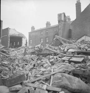 FIRE DESTRUCTION, BIRMINGHAM, ENGLAND, C 1940