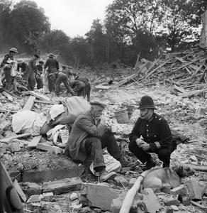 V1 FLYING BOMB ATTACKS ON SOUTHERN ENGLAND, 1944