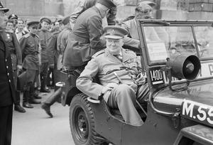 WINSTON CHURCHILL IN BERLIN, JULY 1945