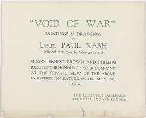 Void of War: Invitation