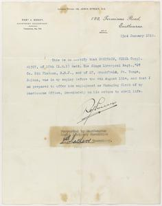 Private Papers of C Brittain