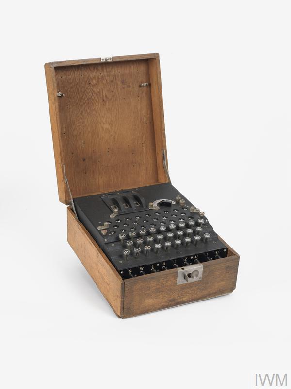 Enciphering Equipment, 3-Rotor Enigma (Schlussel) Machine: German