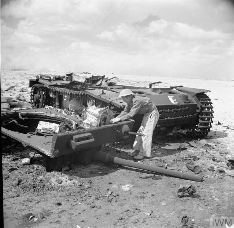 Pzkpfw It From Wreckage Up Germans 1942 A Engineers Blown Recovering October By Royal The Of Tankporn Iii Tank To Prevent