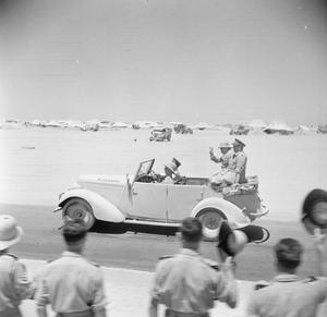 WINSTON CHURCHILL VISITS ARMOURED UNITS AT TEL-EL-KEBIR, EGYPT, AUGUST 1942