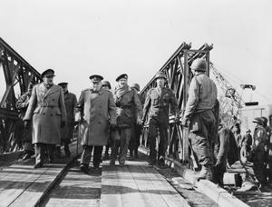 THE CROSSING OF THE RHINE RIVER, MARCH 1945