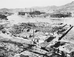 THE AFTERMATH OF THE ATOMIC BOMB: NAGASAKI, JAPAN, 1945