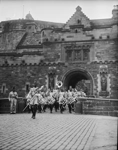BAND OF THE KING'S AFRICAN RIFLES VISITS EDINBURGH, SCOTLAND, JUNE 1946
