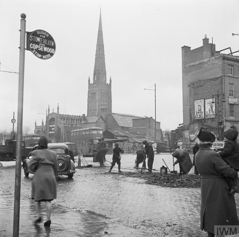 Places To Visit Coventry Uk: COVENTRY, ENGLAND, SPRING 1944 (D 18091