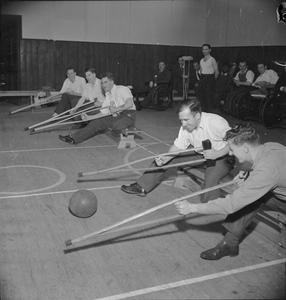 REHABILITATION AT QUEEN MARY'S HOSPITAL, ROEHAMPTON, LONDON, ENGLAND, 1944