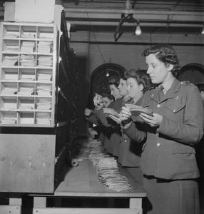 ARMY POST OFFICE IN THE MIDLANDS, ENGLAND, 1944