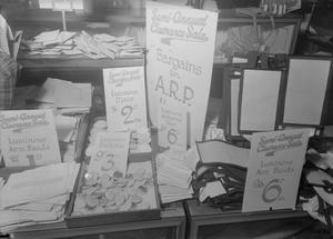 BLACKOUT ACCESSORIES FOR SALE, SELFRIDGE'S, LONDON, ENGLAND, C 1940