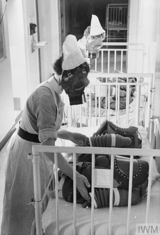 Gas Drill At A London Hospital Gas Masks For Babies Are