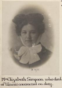 MRS ELIZABETH SIMPSON