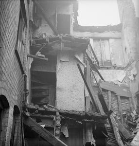BOMB DAMAGE IN BIRMINGHAM, ENGLAND, 1940