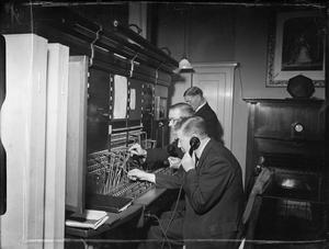 WARTIME COMMUNICATIONS: THE WORK OF THE COURT POST OFFICE, BUCKINGHAM PALACE, LONDON, ENGLAND, C 1941