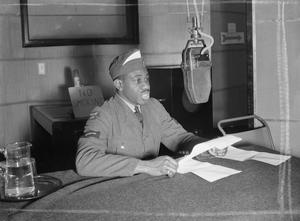 ON THE AIR: REHEARSING FOR A RADIO BROADCAST, LONDON, NOVEMBER 1941