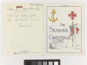 149 (RN) Field Ambulance Christmas Card 1918 - EH Common Objects case