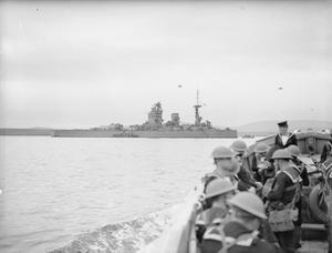 ON BOARD THE BATTLESHIP HMS RODNEY. 1940, ON BOARD THE BRITISH BATTLESHIP.