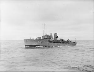 ON BOARD THE SLOOP HMS FOWEY ON CONVOY. SEPTEMBER 1941.