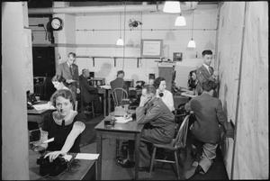 THE TELEPHONE SERVICE CARRIES ON, LONDON, JANUARY 1942