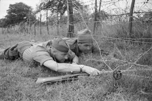 NEWFOUNDLAND TROOPS IN ENGLAND, COMMANDO TRAINING, 1942
