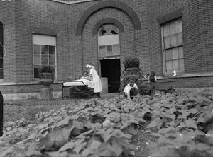MANSION BECOMES MATERNITY HOME: LIFE AT BROCKET HALL, WELWYN, HERTFORDSHIRE, 1942