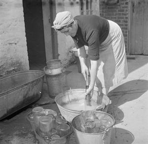 AGRICULTURE IN BRITAIN: LIFE ON GEORGE CASELY'S FARM, DEVON, ENGLAND, 1942