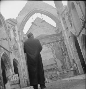 A CHURCH RISES FROM THE ASHES: BOMB DAMAGE TO ST GEORGE'S CATHEDRAL, SOUTHWARK, 1942