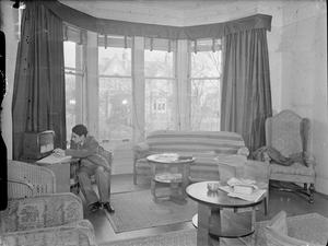 COLONIAL STUDENTS IN EDINBURGH: ACCOMMODATION FOR EMPIRE STUDENTS AT HOPE TERRACE, EDINBURGH, SCOTLAND, 1942