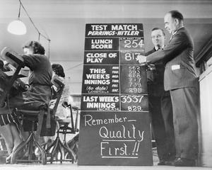 FROM ARM CHAIRS TO BOMBERS: WAR WORK AT PERRINGS FURNITURE SHOWROOM, KINGSTON, SURREY, 1943