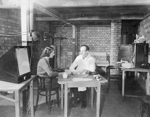 NEW WAR OPENS ON FACTORY FRONT: X-RAY SCREENING FOR TUBERCULOSIS, LONDON, ENGLAND, 1943