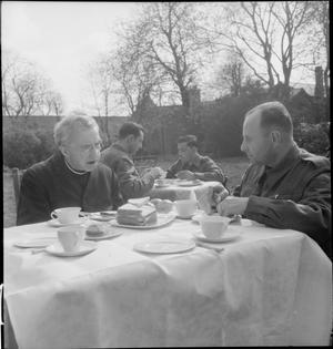 RELIGIOUS RETREAT: CANADIAN CATHOLICS AT CAMPION HOUSE, OSTERLEY, MIDDLESEX, ENGLAND, 1943