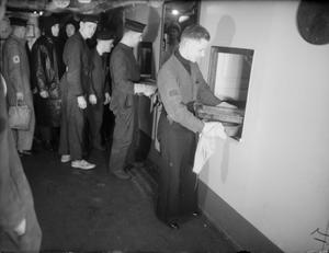 ON BOARD HMS KING GEORGE V WHEN SHE TOOK LORD AND LADY HALIFAX TO AMERICA IN JANUARY 1941.