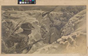 Naik Darwan Sing Negi in the action at Festubert in November 1914 attrib