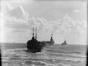 UNITS OF THE BRITISH FLEET IN THE MEDITERRANEAN. NOVEMBER 1940, ON BOARD THE CRUISER HMS SHEFFIELD.