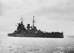 HMS PRINCE OF WALES, BRITISH BATTLESHIP. 1941.
