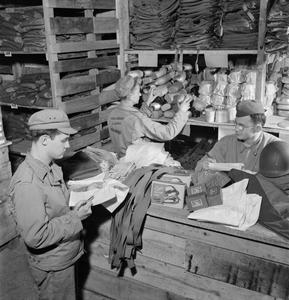 BRITAIN SUPPLIES US ARMY STORE: AMERICANS IN BRITAIN, 1943