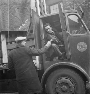 THEY DRIVE BY NIGHT: THE WORK OF THE LONG-DISTANCE LORRY DRIVER IN WARTIME, ENGLAND, UK, 1944
