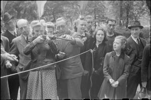 WAR FAIR: HOLIDAYS AT HOME AT A FETE IN RUSSELL SQUARE, LONDON, 1943