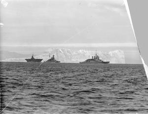 NAVAL FORCES COVERING THE PASSAGE OF CONVOYS THROUGH THE MEDITERRANEAN, WHICH WERE CARRYING IMPORTANT MATERIAL ASSISTANCE TO GREECE. JANUARY 1941, ON BOARD A WARSHIP OF THE ESCORT.
