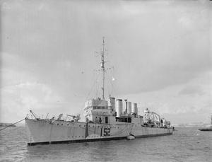 HMS SALISBURY, BRITISH TOWN CLASS DESTROYER. 19 FEBRUARY 1941, EX-USA DESTROYER (USS CLAXTON).