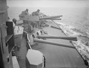 ON BOARD THE BATTLESHIP HMS NELSON AT SEA. 1940.
