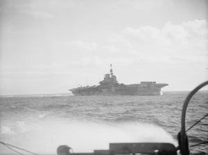 PREPARATIONS FOR NORWEGIAN OPERATIONS. OCTOBER 1941, ON BOARD THE DESTROYER HMS BEDOUIN. HMS VICTORIOUS AND HMS KING GEORGE V ALONG WITH ESCORTING DESTROYERS DURING SEVERAL DAYS OF PREPARATION FOR NORWEGIAN OPERATIONS.