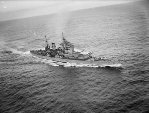 AERIAL VIEWS OF HMS KING GEORGE V. 28 OCTOBER 1941, SCAPA FLOW.